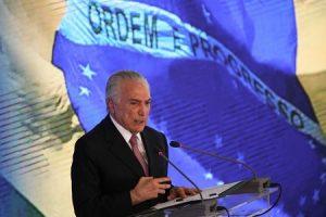 Presidente Michel Temer faz balanço dos dois anos de governo, durante o evento O Brasil Voltou, no Palácio do Planalto.